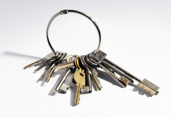 Large bunch of mixed keys