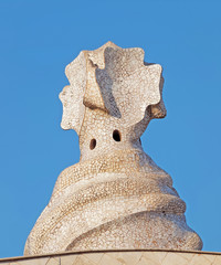 Decorative form on the top of Pedrera, Barcelona