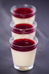 Vanilla Cream With Cherry Topping