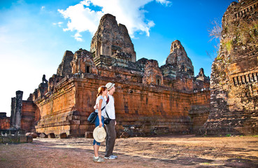 Couple at Prasat Pre Roup temple, Cambodia.
