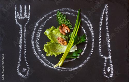 Plexiglas Salade Diet.