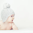 Cute curious baby - cognize the world