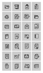 vector document icons set