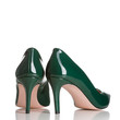 pair of green female high heel shoes