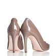 pair of brown female high heel shoes