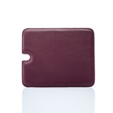 red leather tablet cover