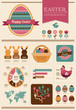 Happy Easter - infographic and elements