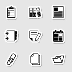 Document Office Icons as Labes