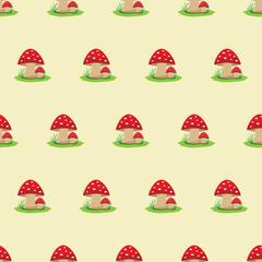 Seamless pattern - mushrooms