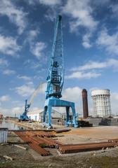 Goole docks cranes