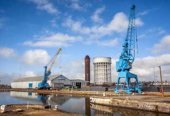 Dockyard cranes on Humberside yard