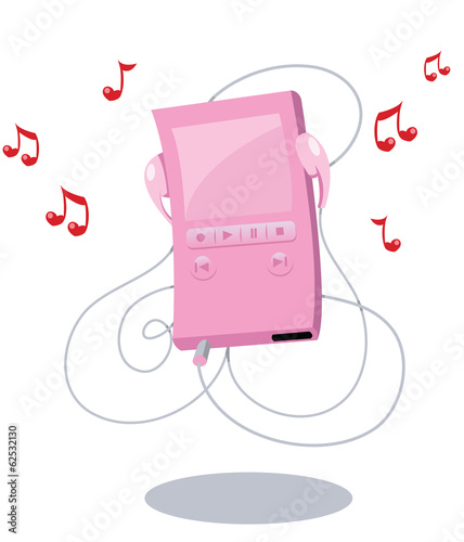 Pink Girly Mp3 Player
