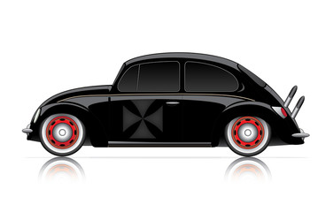 compact black hot-rod