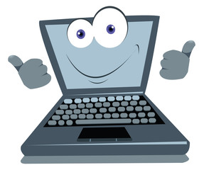 Funny Laptop Thumbs up