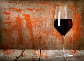 Glass of dessert wine texture
