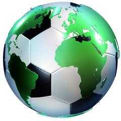 Fußball - Weltkugel