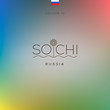 World Cities - Sochi banner. Vector Eps10 illustration.