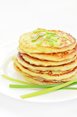 Potato pancakes with green onion