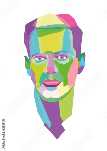 abstract male face
