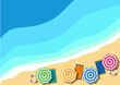 Vector Summer horizontal Background