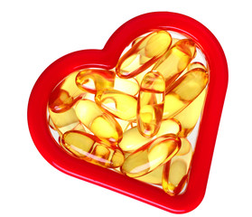 Fish oil capsules heart health