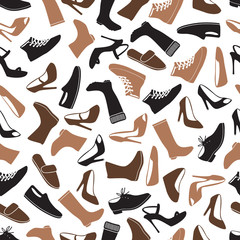 boots and shoes color seamless pattern eps10