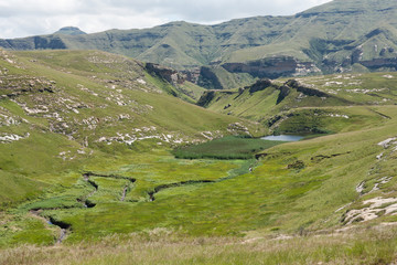 River channel in the Red Mountains at Golden Gate National Park