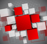 Fototapety Abstract background with 3d cubes