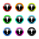 exclamation sign icon vector set