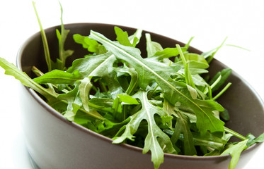 Fresh Arugula Salad in a Bowl