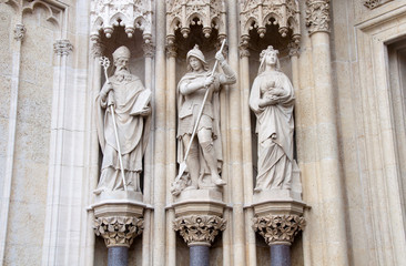 Architecture detail of Zagreb Cathedral, Croatia