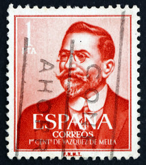 Postage stamp Spain 1961 Juan Vazquez de Mella, Politician