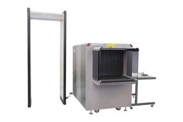 conveyor belt and metal detector