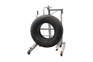 Wheel stand for aircraft wheels