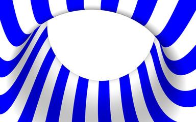 Geschwungenes Element in Blau - Weiss