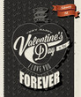 Happy Valentines Day! Retro Valentine's Day hand lettering.