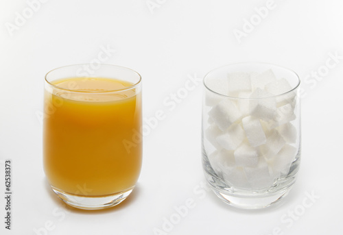 Orange juice sugar cube