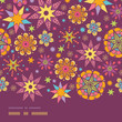 vector colorful stars horizontal seamless pattern background