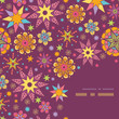 vector colorful stars corner seamless pattern background