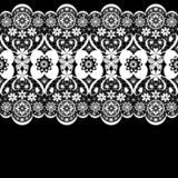 White seamless lacy lace pattern on black