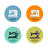 Sewing machine. Vector format
