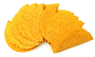 Stack of Cruncy Cornmeal Taco Shells