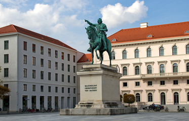 Конная статуя курфюрста  Максимилиана . Мюнхен