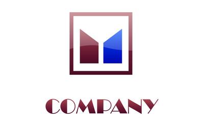 Brown / Blue Company Logo