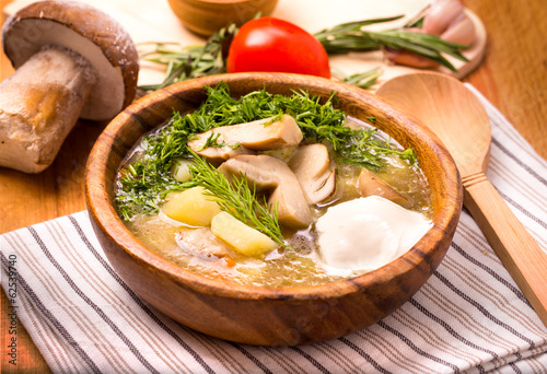Mushroom vegetable soup