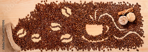 Von  Kaffeekörnern herzaubert