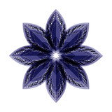 blue flower illusion. vector