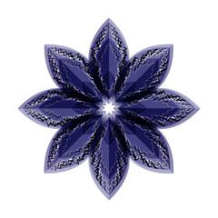 blue flower illusion. vector