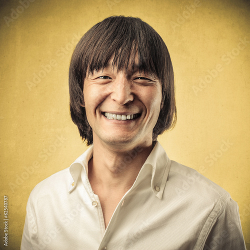 smiling japanese man