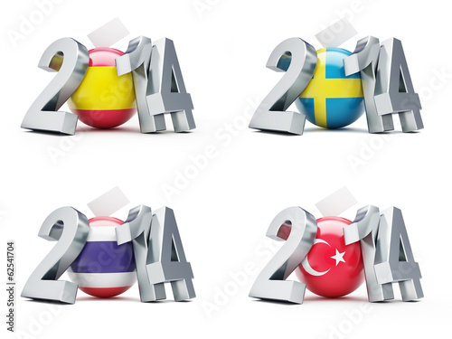 elections in Sweden, Spain, Thailand, Turkey 2014